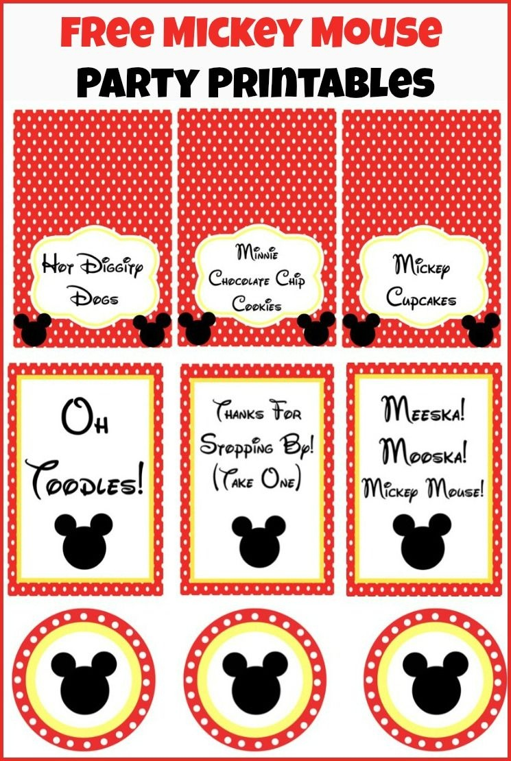 Free Mickey Mouse Party Printables. | Party Ideas - Mickey | Mickey - Free Mickey Mouse Printables
