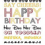 Free Mickey Mouse Themed Birthday Printable   Free Mickey Mouse Printables