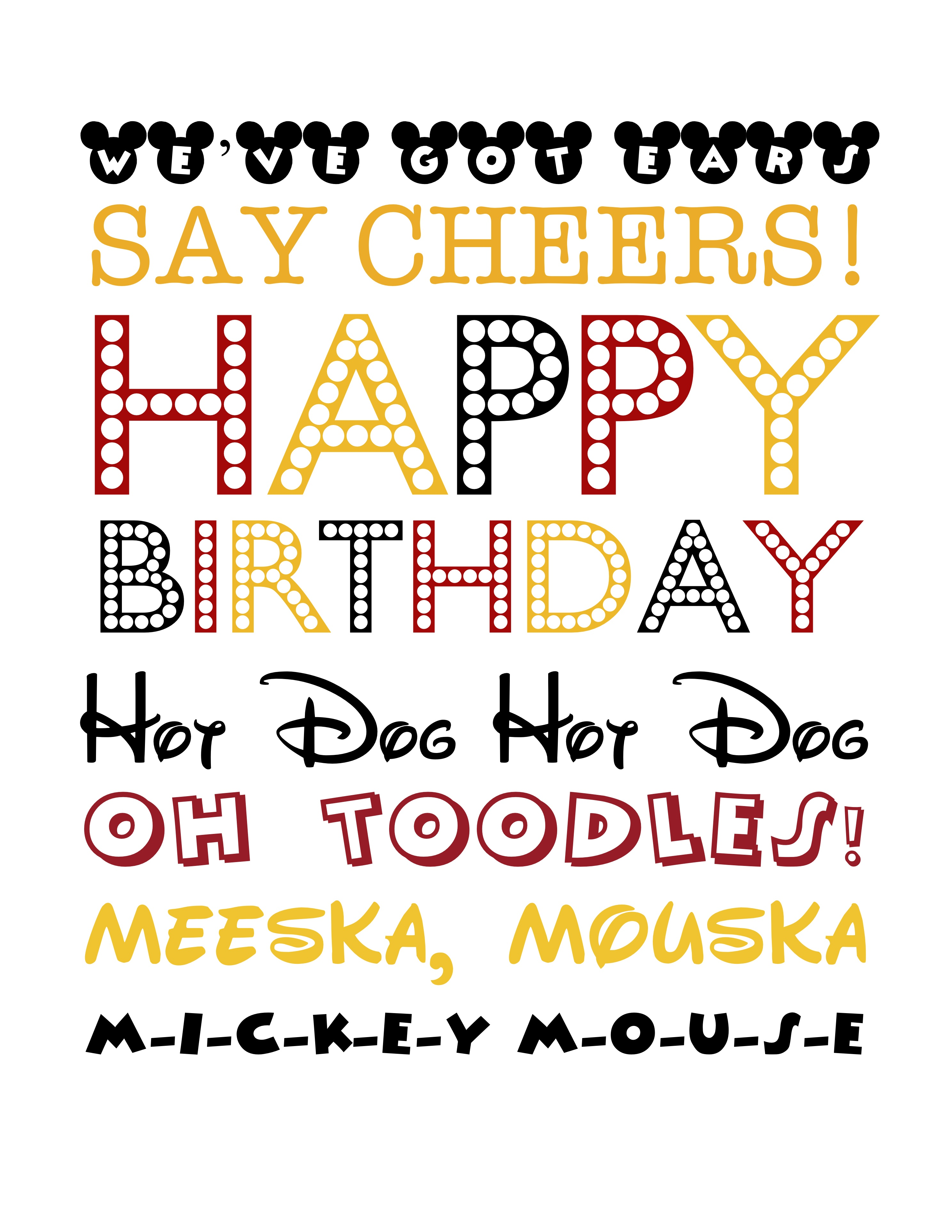 Free Mickey Mouse-Themed Birthday Printable - Free Mickey Mouse Printables
