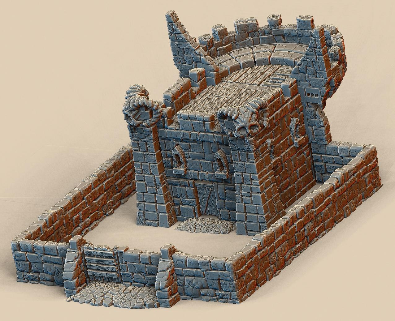 Free Mini Keep For 3D Printing - 3D Printable Terrain - Album On Imgur - Free 3D Printable Terrain