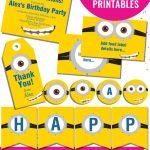 Free Minion Party Printables   Enjoy The Invitation, Birthday Banner   Minion Party Ideas Free Printables