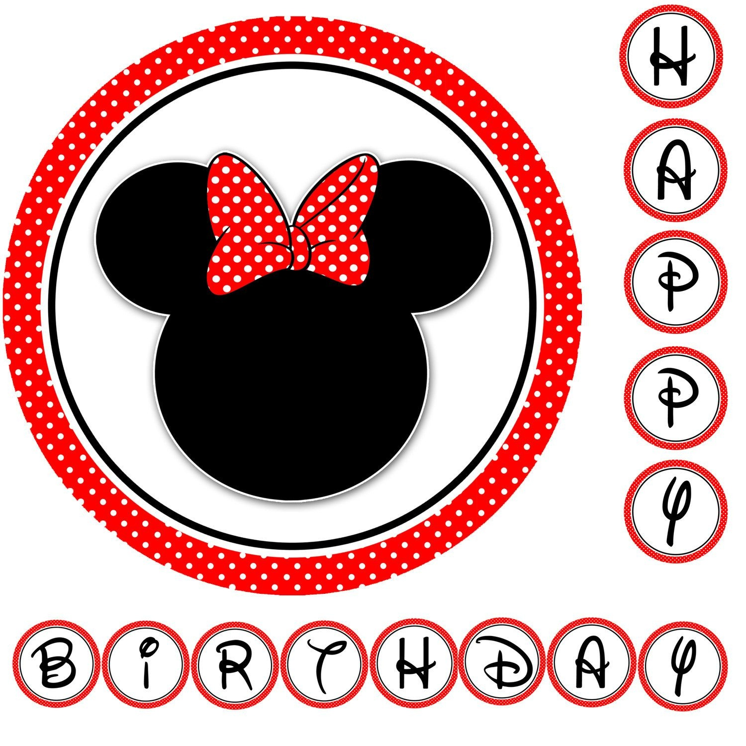 Free Minnie Mouse Birthday Printables    Mouse Sunkissedamy - Free Minnie Mouse Printables