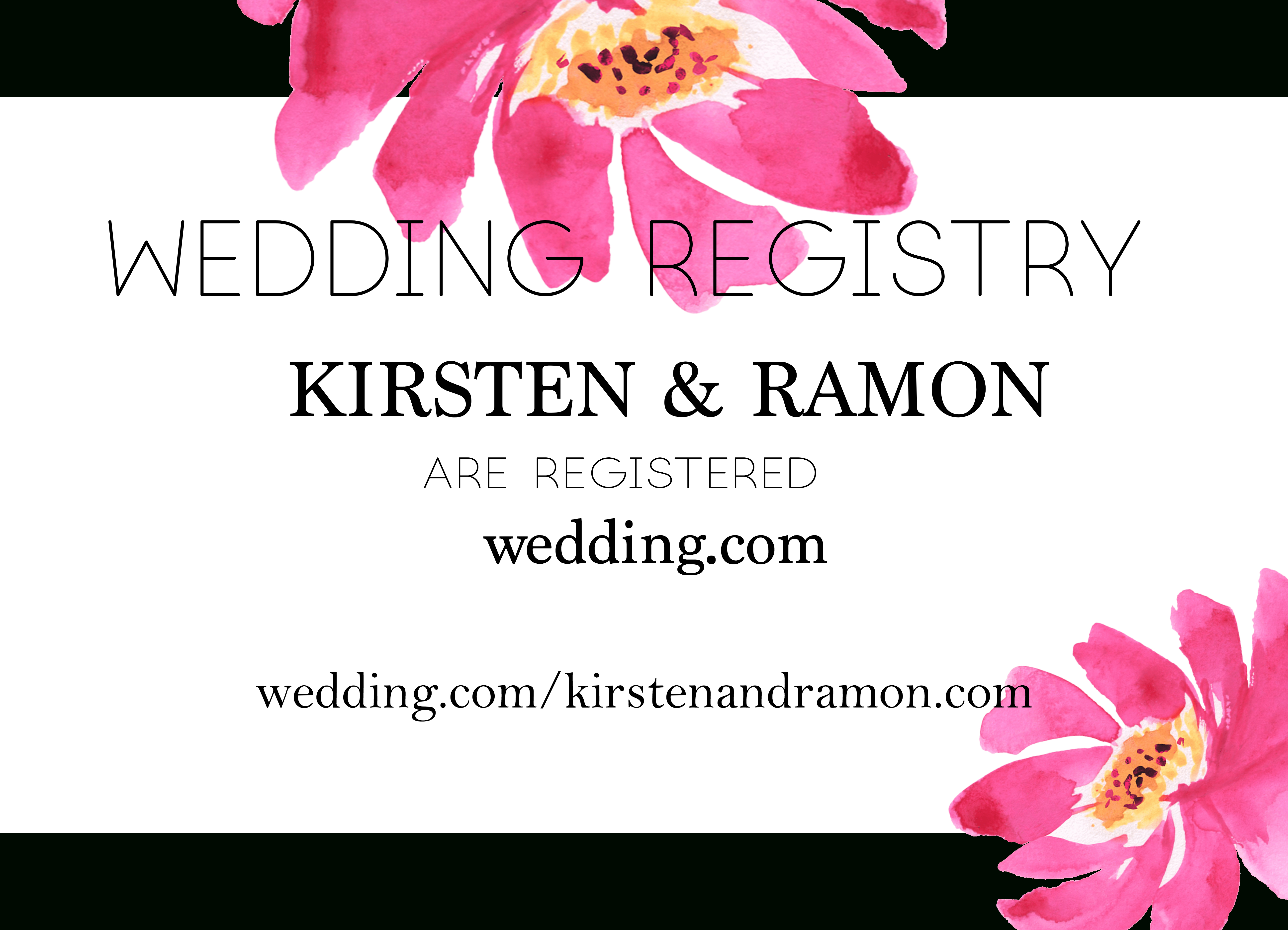 Free Modern Printable Watercolor Wedding Registry Card   Freebies - Free Printable Registry Cards