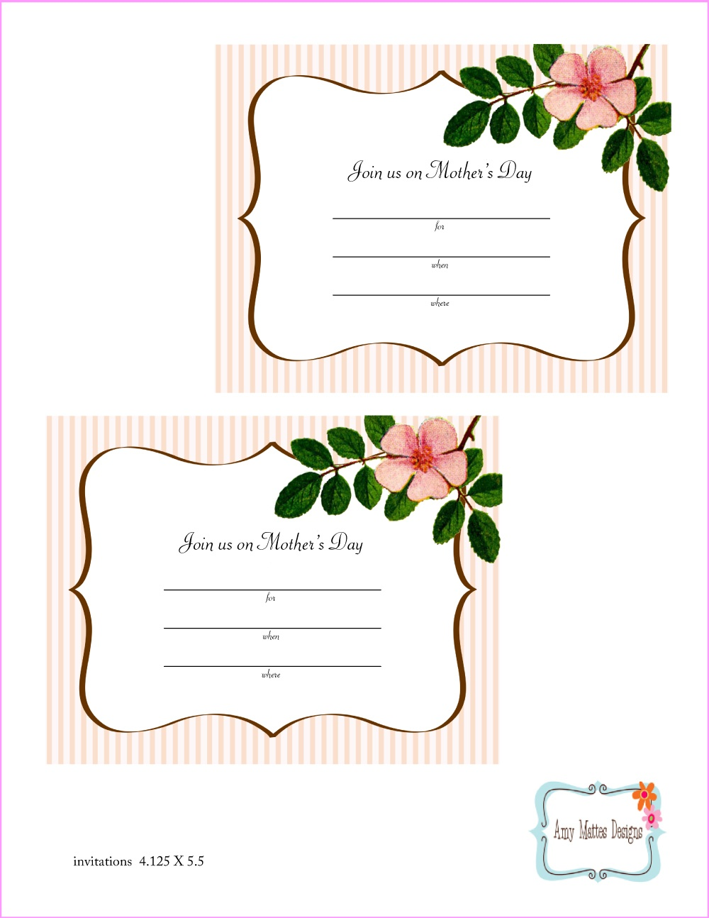 Free Mother's Day Printables From Amy Mattes Designs | Catch My Party - Free Mother's Day Printables
