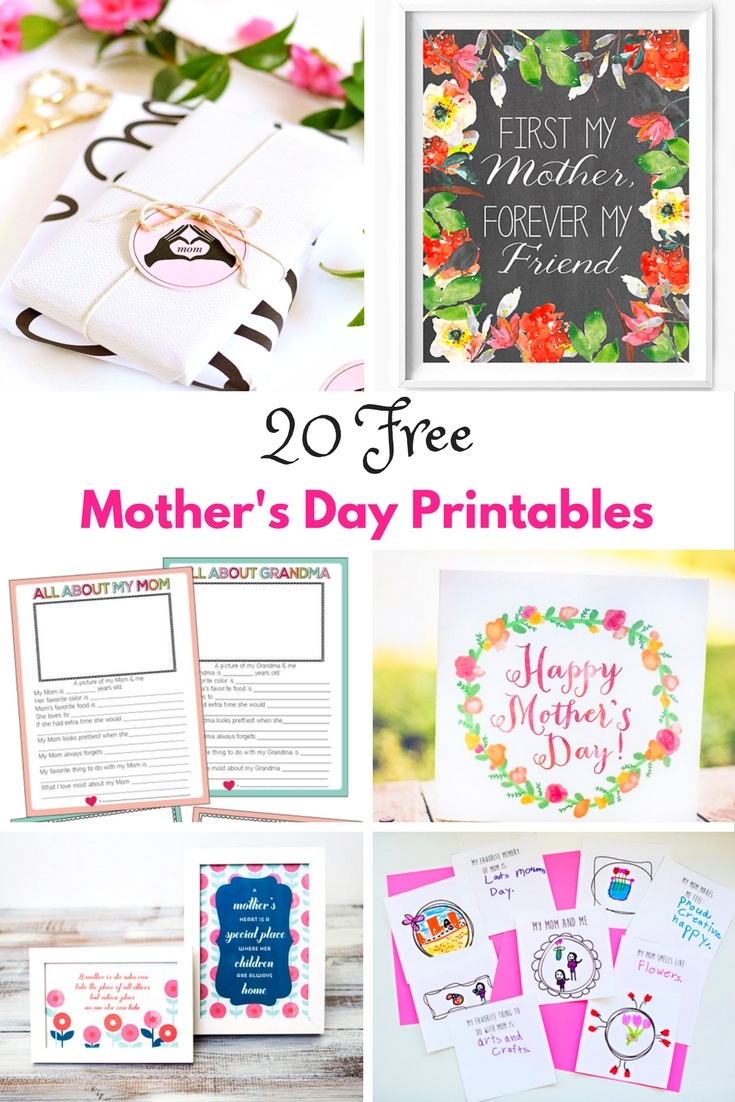 Free Mother's Day Printables - Mum In The Madhouse - Free Printable Mothers Day Crafts