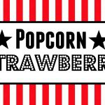 Free Movie Night / Popcorn Bar Printables   Popcorn Bar Sign Printable Free
