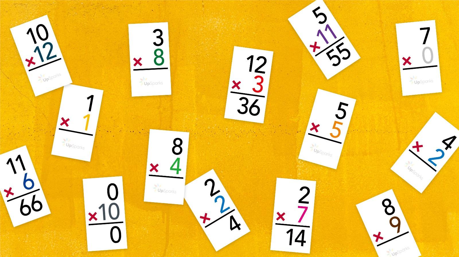 Free Multiplication Flash Cards Printable Sheets From Upsparks - Free Printable Multiplication Flash Cards Pdf