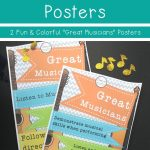 Free Music Display Posters | Music Bulletin Board Inspiration   Free Printable Music Posters