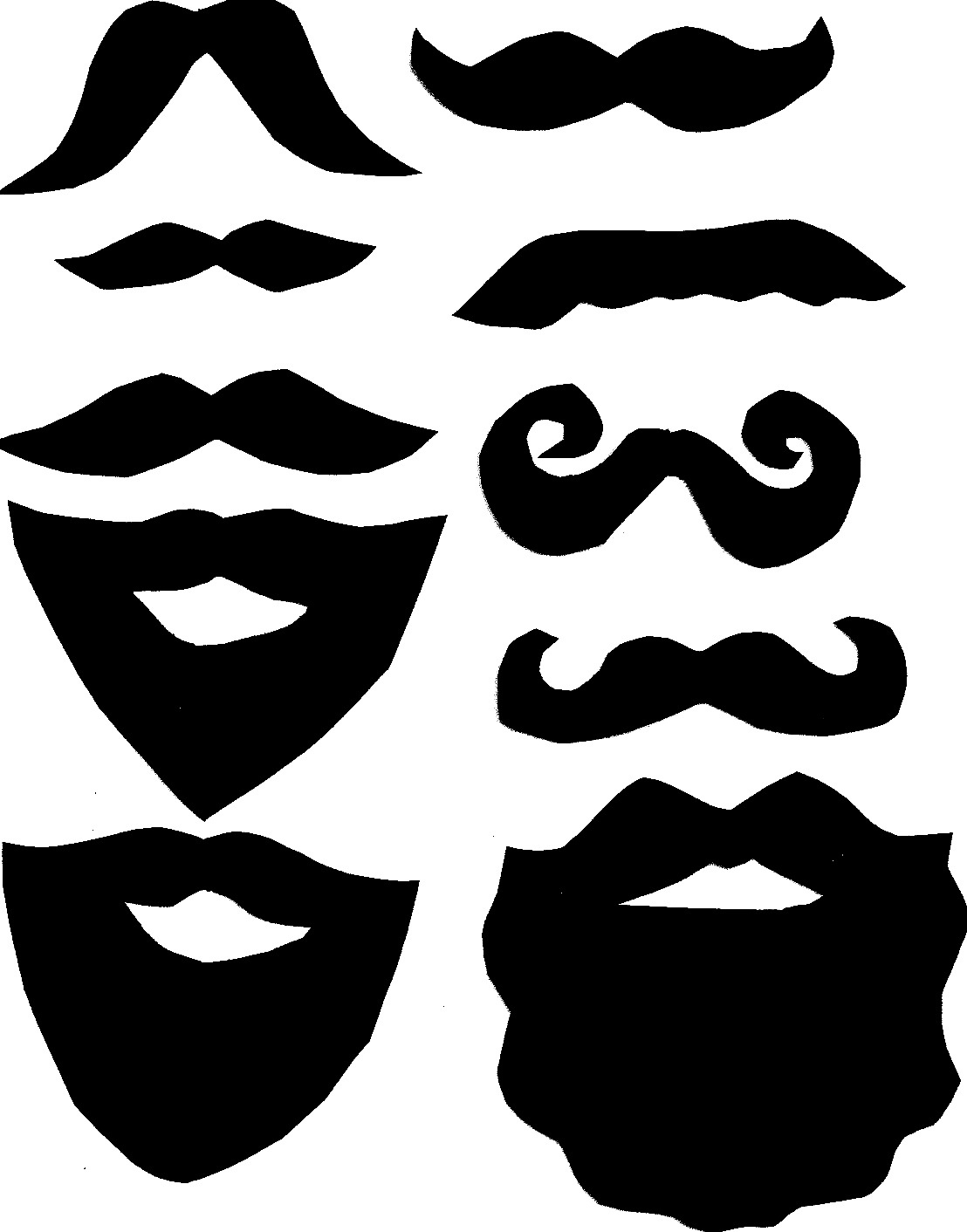 Free Mustache Printables, Download Free Clip Art, Free Clip Art On - Free Printable Mustache