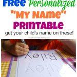 Free Name Tracing Worksheet Printable + Font Choices   Free Printable Name Tracing Worksheets For Preschoolers