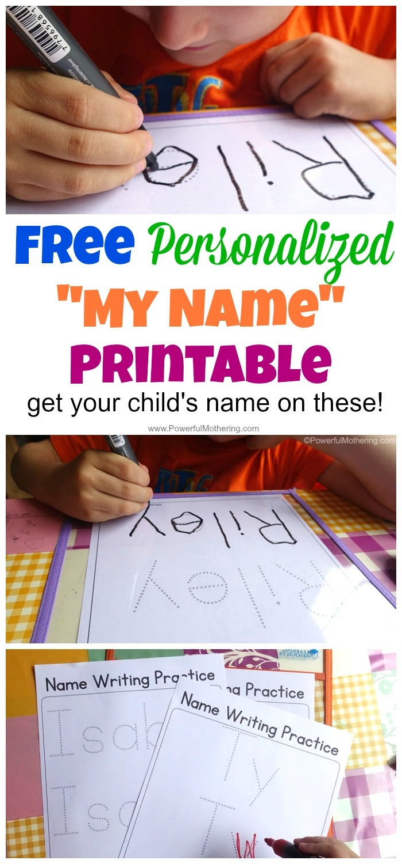 Free Name Tracing Worksheet Printable + Font Choices - Free Printable Name Writing Practice