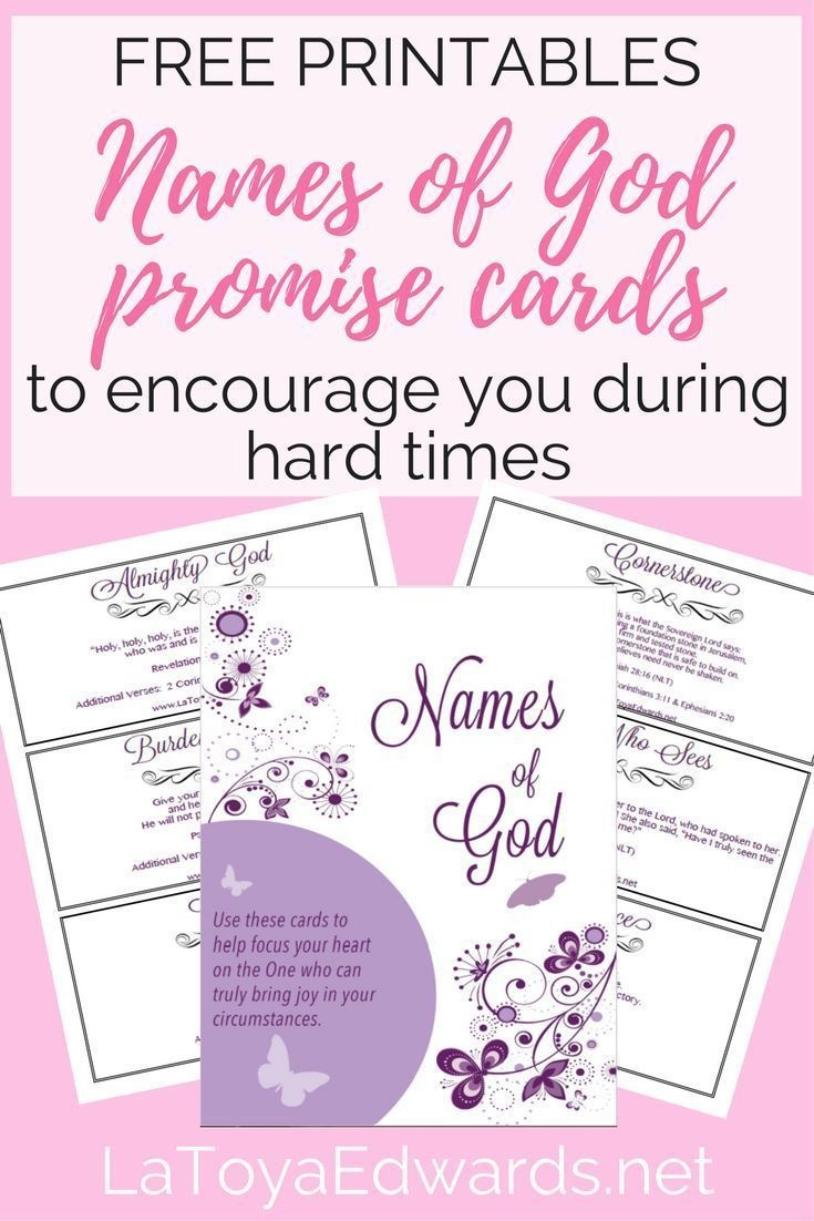 Free Names Of God Promise Cards | Bible Study | Names Of God - Free Printable Names Of God