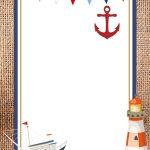 Free Nautical Theme Baby Shower Invitations Templates | Bagvania   Free Printable Sailboat Template