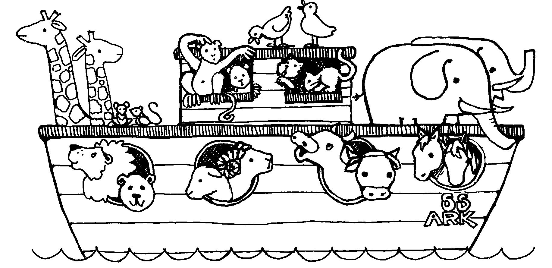 Free Noah's Ark Coloring Pages | Posts Related To Noah Ark Coloring - Free Noah's Ark Printables