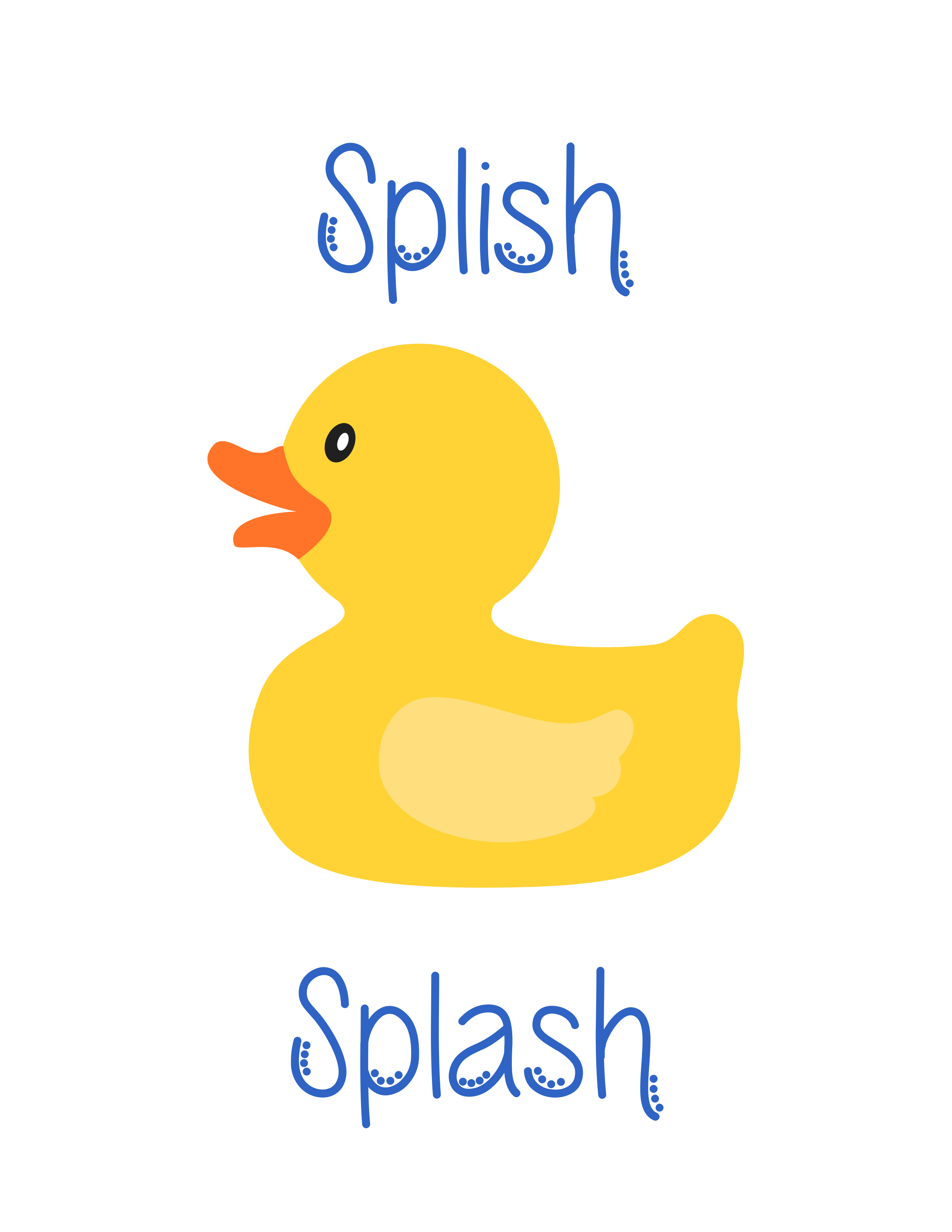 Free Nursery/kid's Bath Printable Artwork From The Baby Ladies - Free Duck Printables