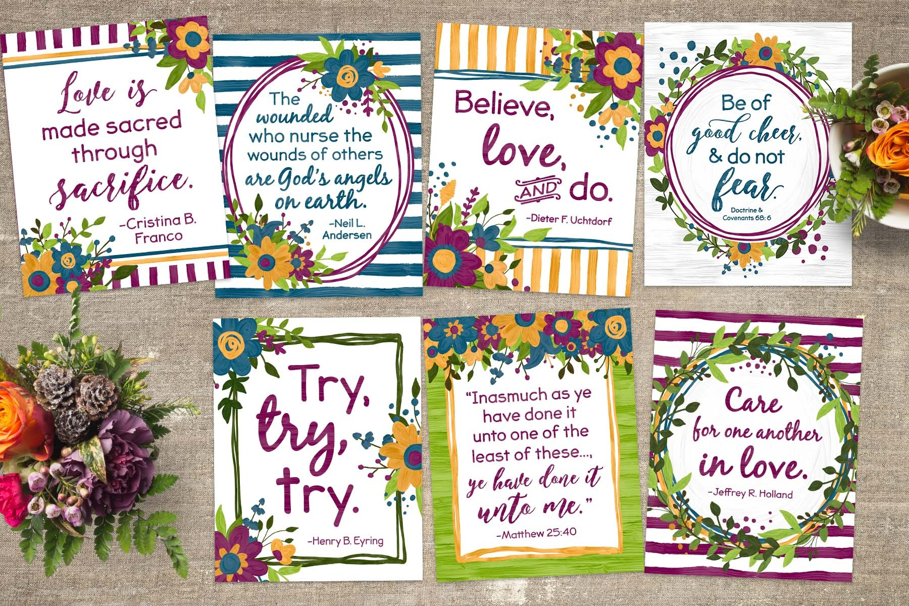 Free October 2018 General Conference Quote Printables - Teepee Girl - Free October Printables