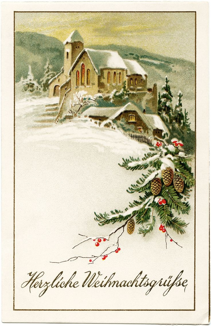Free Old-Fashioned Christmas Cliparts, Download Free Clip Art, Free - Free Printable German Christmas Cards