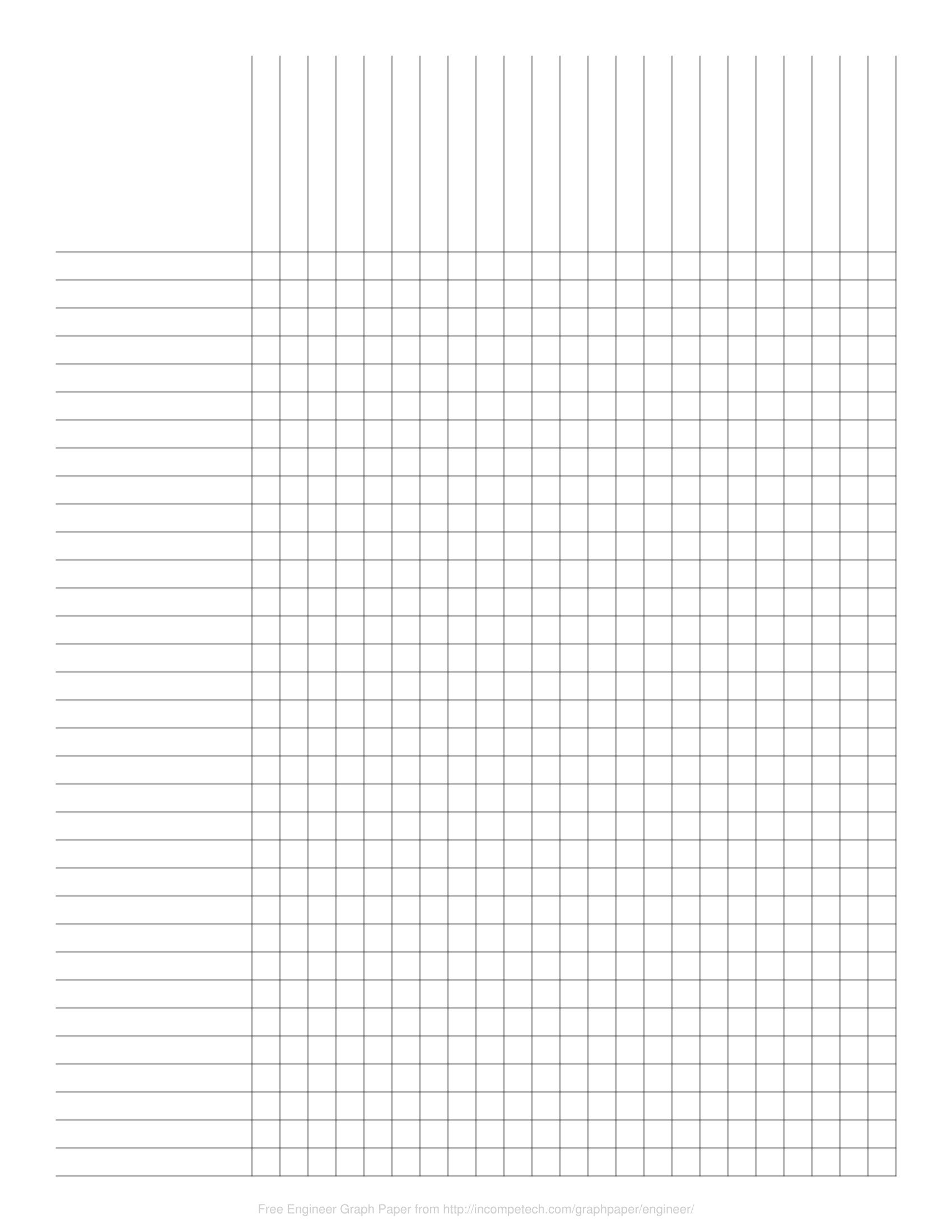 Free Online Graph Paper / Engineer - Free Printable Column Paper