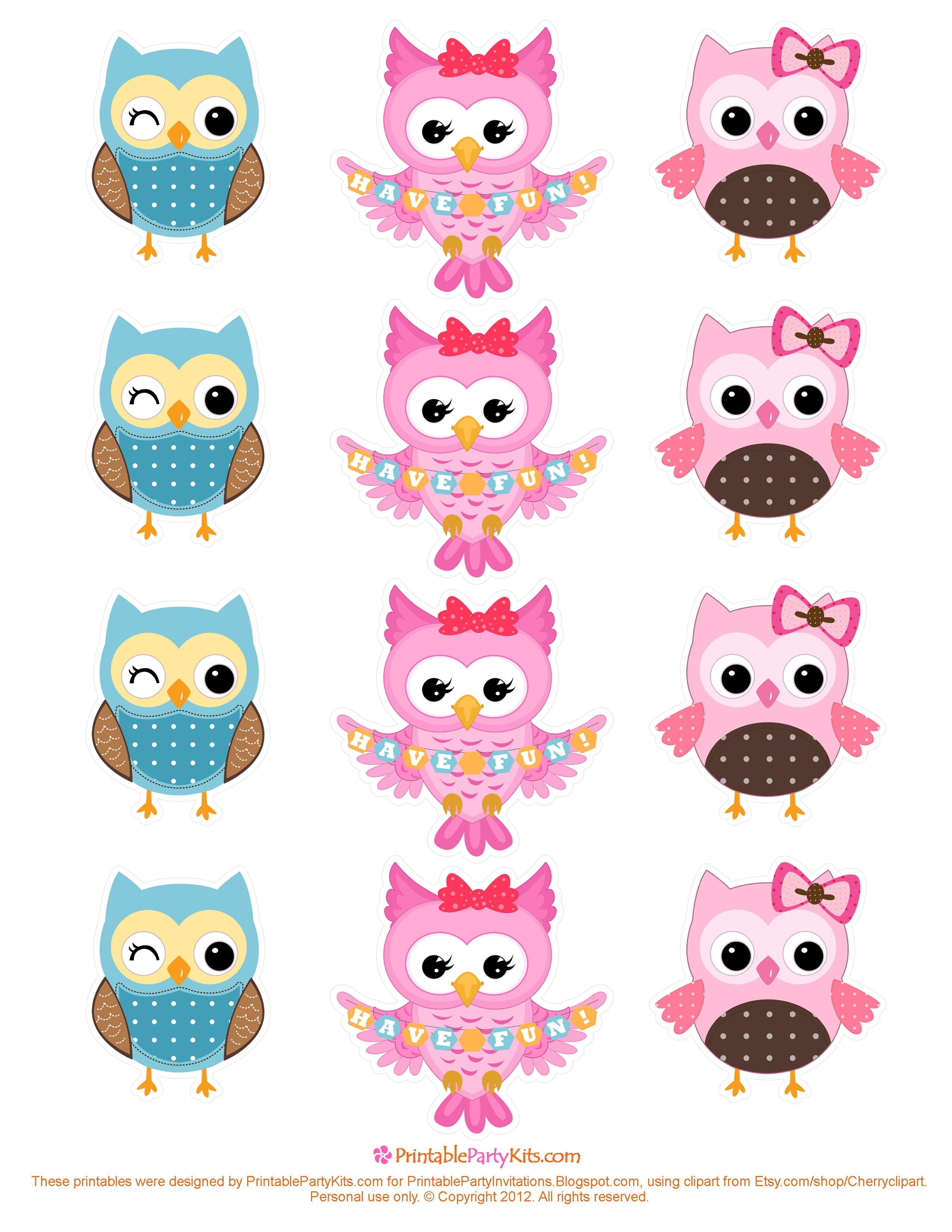 Free Owl Printables | Free Printable Party Invitations: Free Owl - Free Owl Printable Template