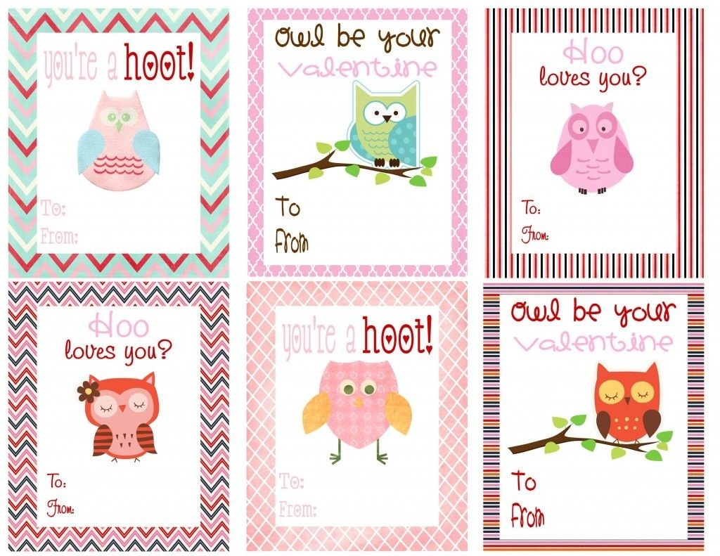 Free Owl Printables | Free Printable Valentine's Day Cards For Kids - Free Printable Valentines For Kids