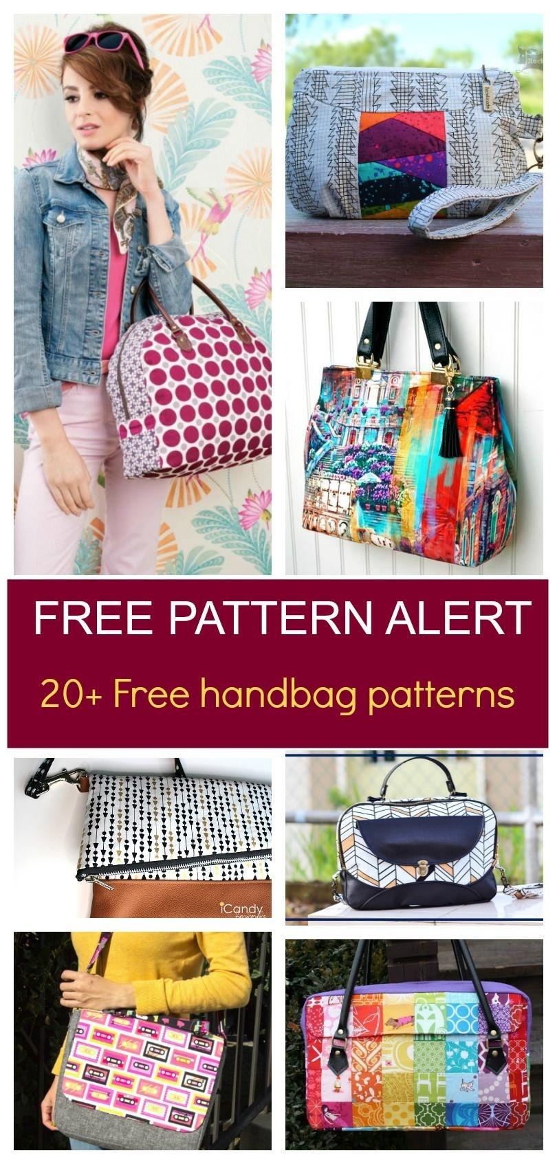Free Pattern Alert: 20+ Handbag Sewing Patterns | Diy Sewing - Free Printable Purse Patterns To Sew