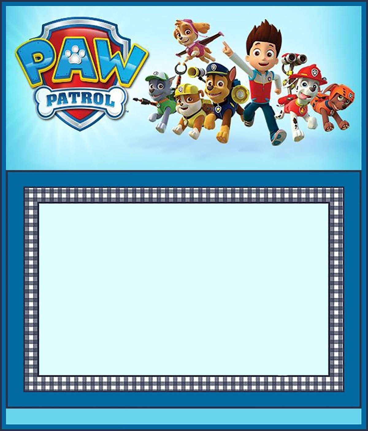 Free Paw Patrol Invitation Template   D's Birthday Parties In 2019 - Paw Patrol Free Printables Invitations