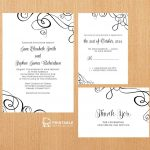 Free Pdf Templates. Easy To Edit And Print At Home. Elegant Ribbon   Free Printable Rsvp Cards