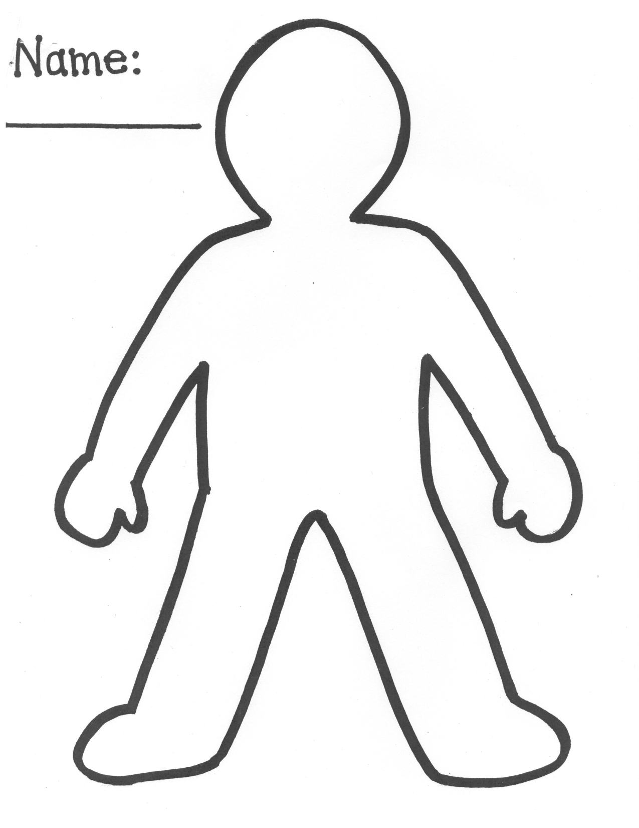 Free Person Cut Out, Download Free Clip Art, Free Clip Art On - Free Printable Person Template