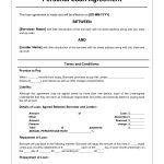 Free Personal Loan Agreement Form Template   $1000 Approved In 2   Free Printable Loan Forms