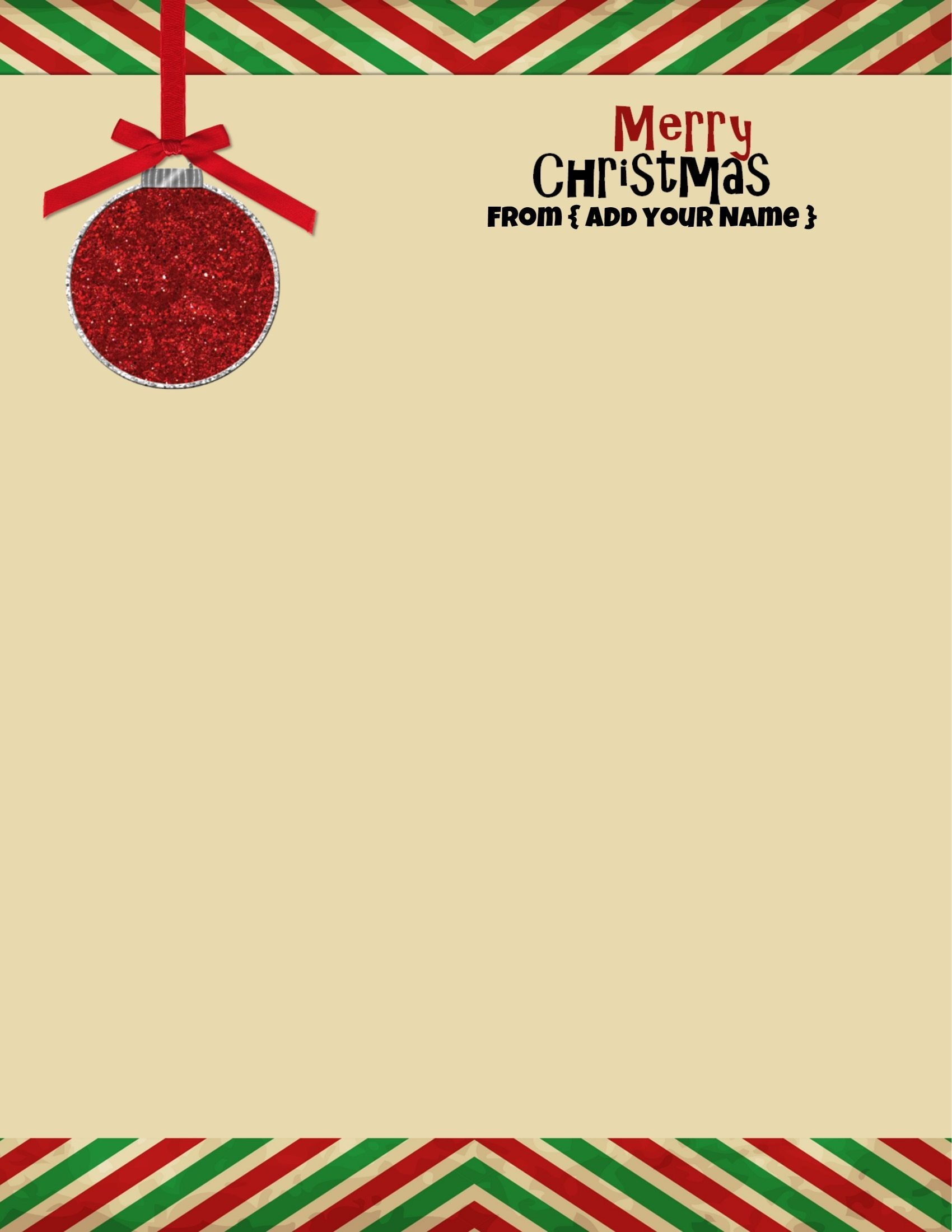Free Personalized Christmas Stationery - Free Printable Christmas Stationery For Kids