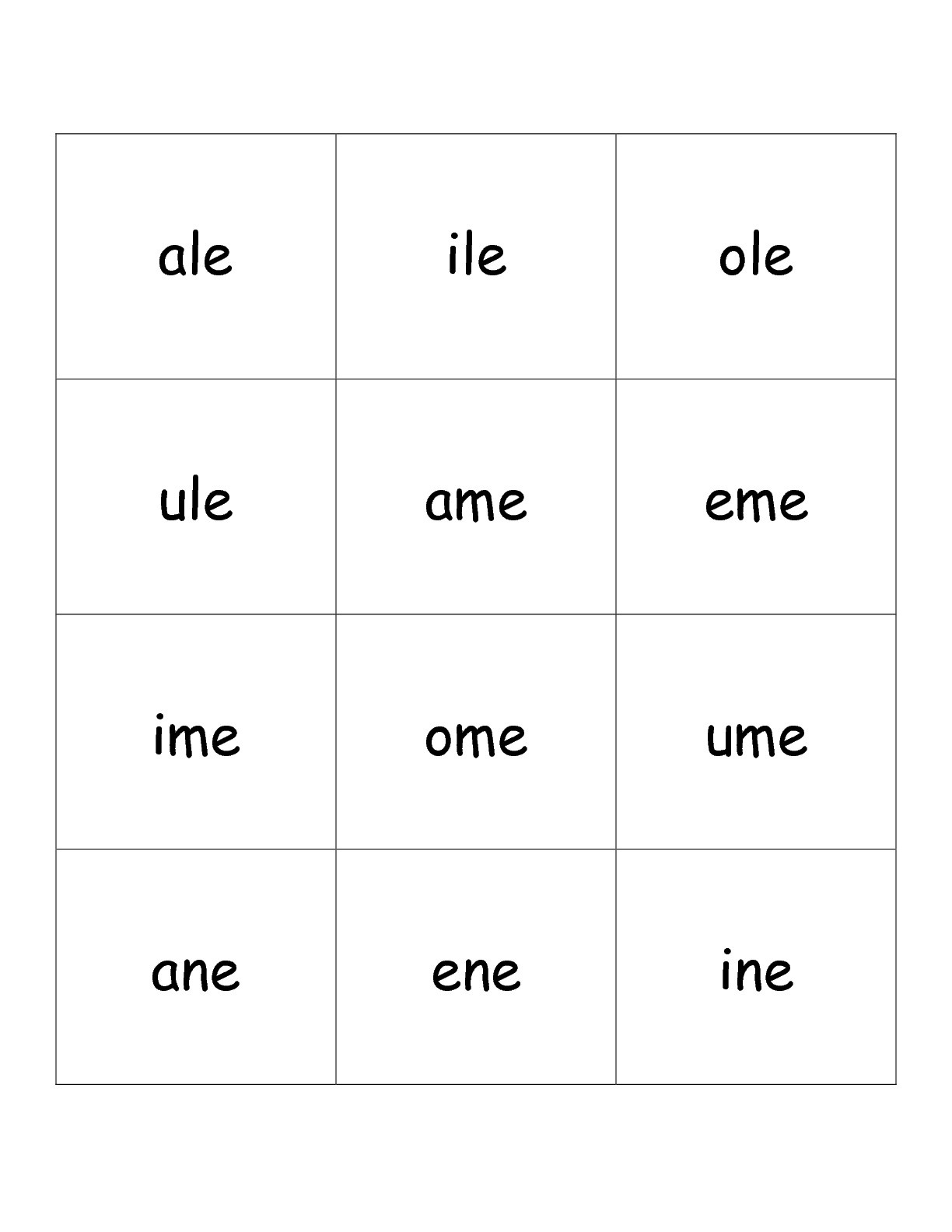 Free Phonics Printouts From The Teacher's Guide - Free Printable Phonics Flashcards With Pictures