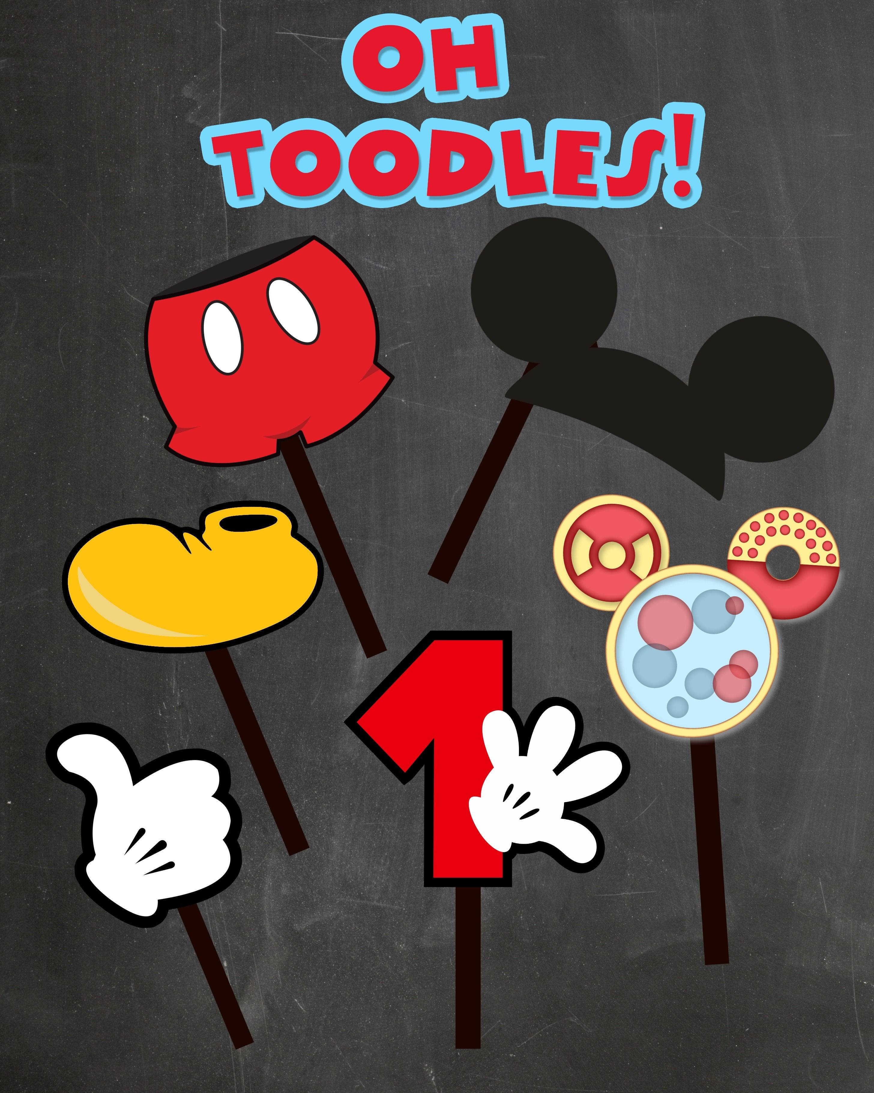 Free Photo Props Mickey Mouse Printable & Templates | Party On - Mickey Mouse Clubhouse Free Party Printables