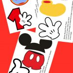 Free Photo Props Mickey Mouse Printable & Templates | Photo Booth   Mickey Mouse Clubhouse Free Printables