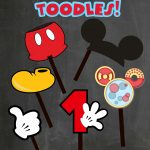 Free Photo Props Mickey Mouse Printable & Templates | Stuff I Like   Free Printable Mickey Mouse Decorations