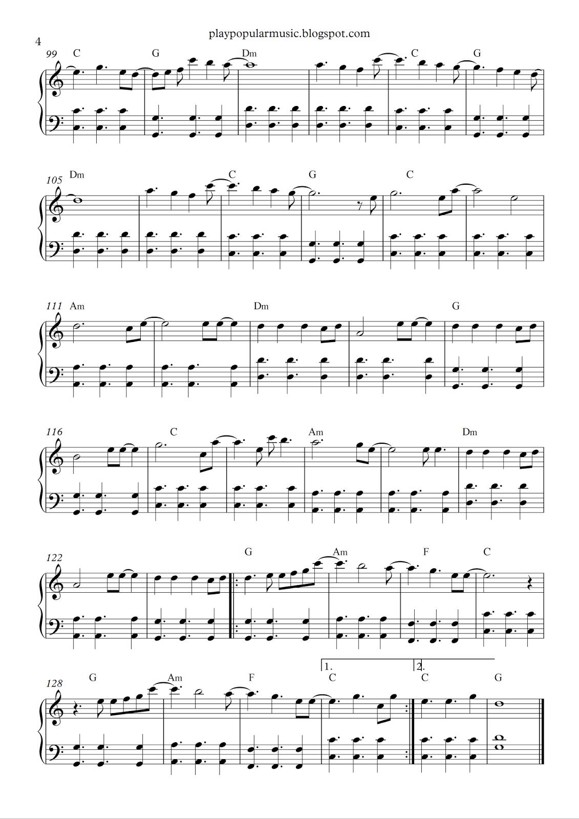 Free Piano Sheet Music: All Of Me - John Legend.pdf What's Going On - All Of Me Easy Piano Sheet Music Free Printable