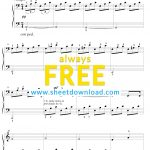 Free Piano Sheet Music To Download And Print   High Quality Pdfs   Free Printable Music Sheets Pdf