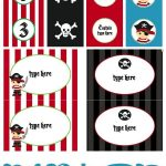 Free Pirate Party Printables (Editable With Child's Name And Age Too   Free Printable Pirate Cupcake Toppers