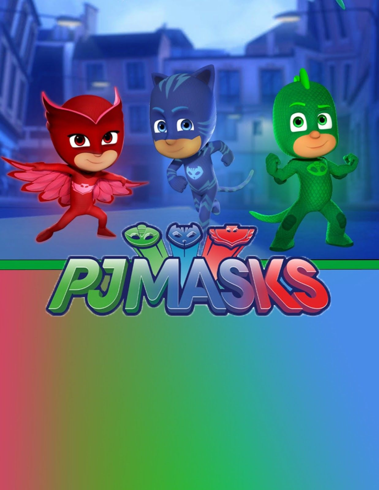 Free Pj Masks Birthday Party Printable Files Invitations | Kids - Free Printable Pj Masks Invitations