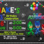Free Pj Masks Invitation Printable Templates Download | Party In   Free Printable Pj Masks Invitations