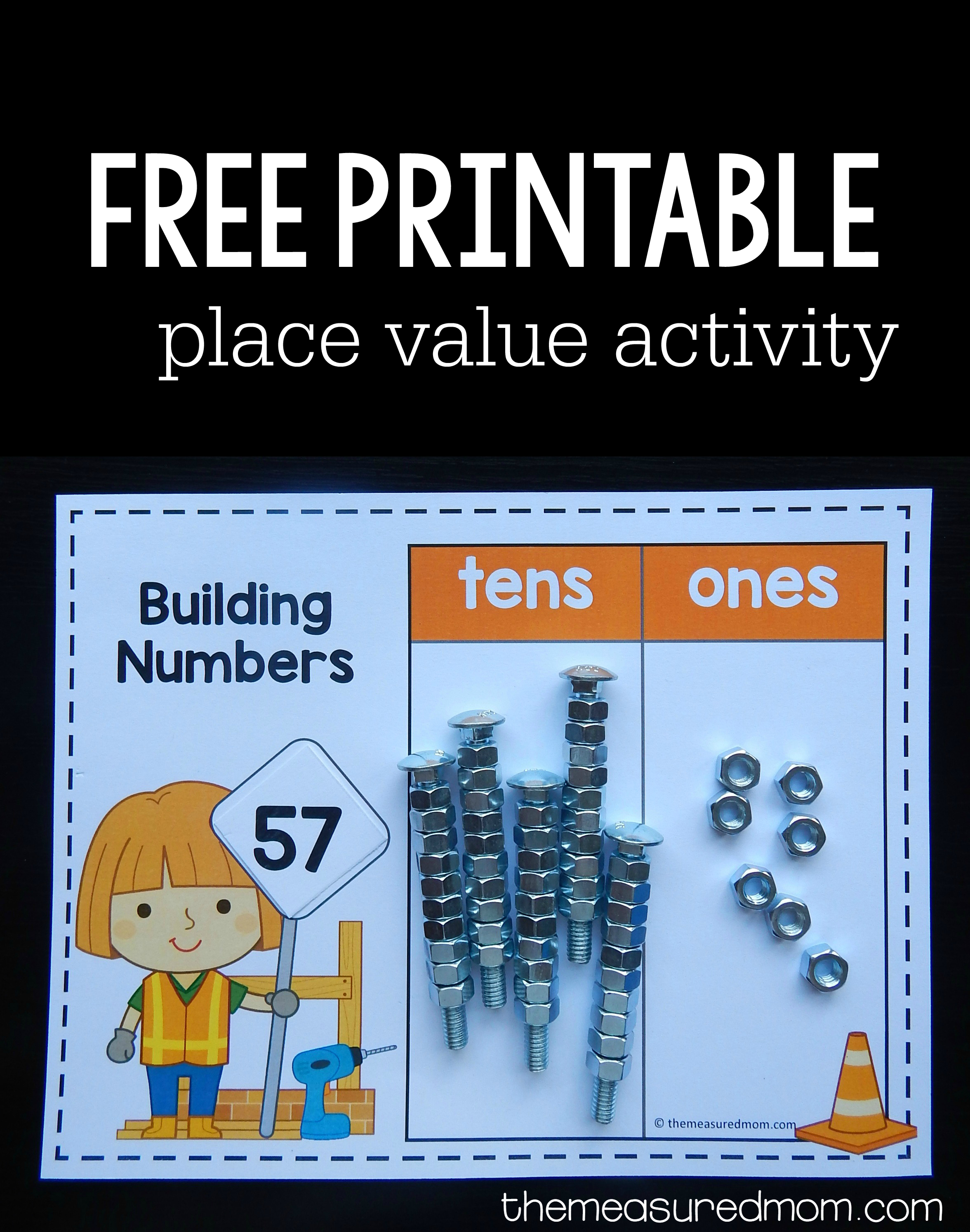 Free Place Value Games For K-2 - The Measured Mom - Place Value Game Printable Free