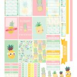 Free Planner Printable: Pineapples | Planners & Bullet Journals   Free Printable Stickers