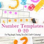 Free Playdough Mats Guaranteed To Make Learning Fun!   Free Printable Playdough Mats