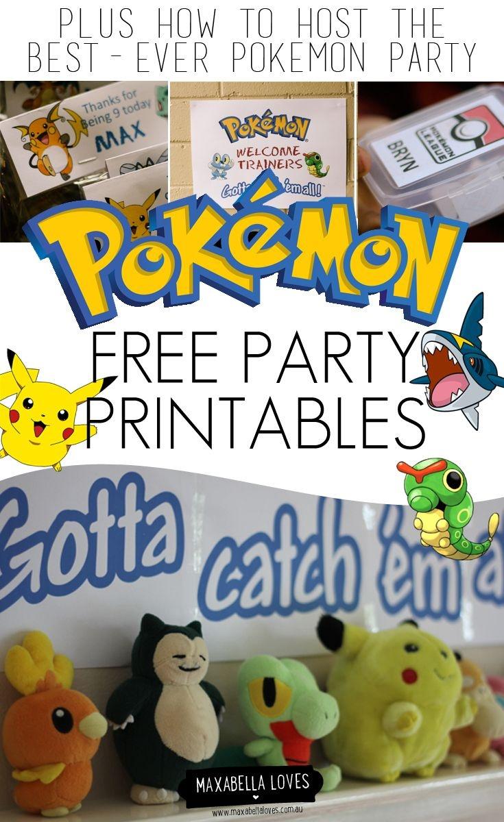 Free Pokemon Party Printables | Pokémon Party | Pokemon Party - Free Printable Pokemon Birthday Invitations