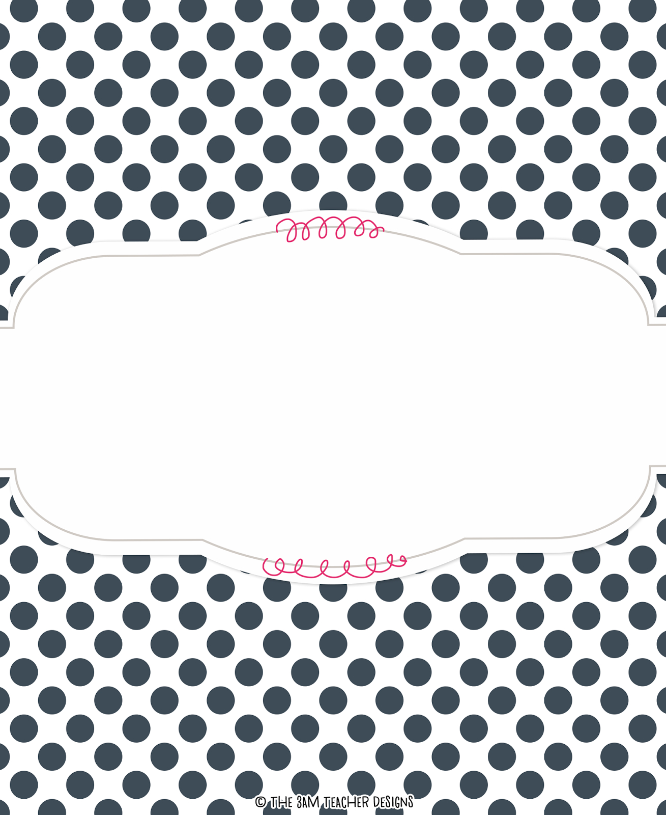 Free Polka-Dot Binder Cover Graphicthe 3Am Teacher!!   Top - Free Printable Teacher Binder Covers