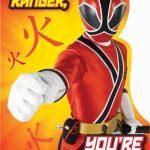 Free Power Ranger Birthday Invitations | Bagvania Invitation In 2019   Free Power Ranger Printables