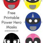 Free Power Ranger Hero Printable Masks   Amber Simmons   Free Power Ranger Printables