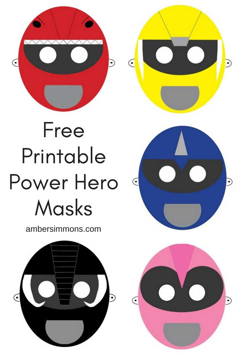 Free Power Ranger Hero Printable Masks - Amber Simmons - Free Power Ranger Printables