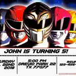Free Power Rangers Birthday Invitation | Life's A Party | Power   Free Power Ranger Printables