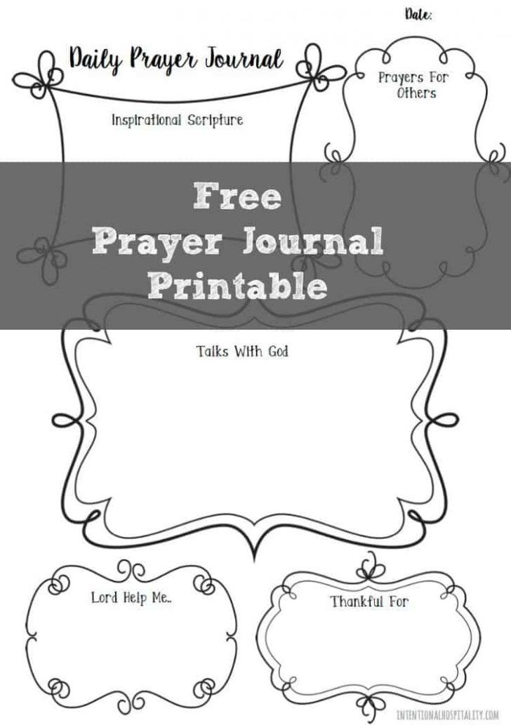 Free Printable Prayer Journal