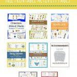 Free Preschool Bible Packs – Mary Martha Mama  Free Printable Bible   Free Printable Bible Crafts